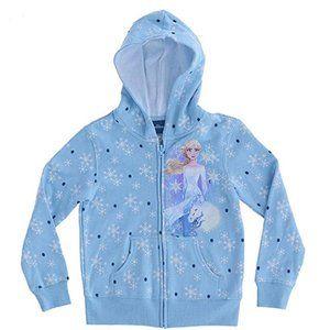 🎁Disney Girl's Frozen 2 Elsa Spirit Zip-Up Hoodie